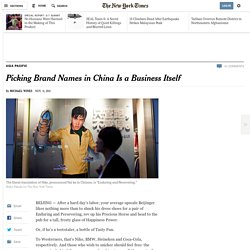 Picking Brand Names in China Is a Business Itself