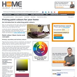 Picking paint colours for your home