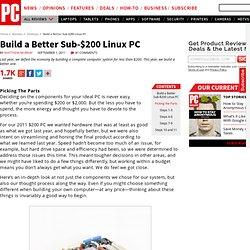 Build a Better Sub-$200 Linux PC - Picking the Parts