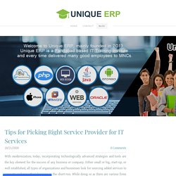 Tips for Picking Right Service Provider for IT Services
