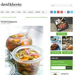 Pickled Jalapenos - David Lebovitz