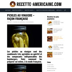 Pickles au vinaigre - Façon française