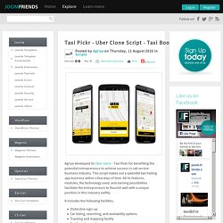 Taxi Pickr - Uber Clone Script - Taxi Booking Software