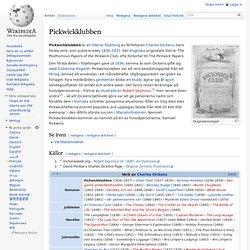 Pickwickklubben – 1:a boken