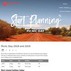 Picnic Day 2018 and 2019 - PublicHolidays.com.au