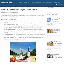 Picnic in France: Things you should know - NIMBLETOE