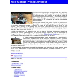 turbine hydroélectrique explications et calculs