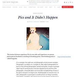 Pics and It Didn't Happen