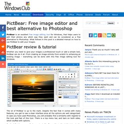 PictBear: Free image editor and best alternative to Photoshop