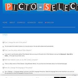 FAQs - Picto-SelectorPicto-Selector