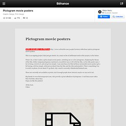 Pictogram movie posters on the Behance Network