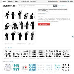 Body Ache Pain Backache Headache People Icon Sign Symbol Pictogram Stock-Vektorgrafik - Illustration 86654674