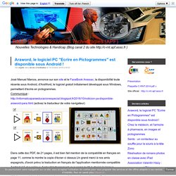 """Araword, le logiciel PC """"Ecrire en Pictogrammes"""" est disponible sous Android !"""