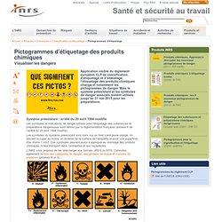 Pictogrammes pour la signalisation de santé et de sécurité et l'étiquetage des produits chimiques - INRS, l'Institut National de Recherche et de Sécurité