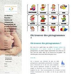Où trouver des pictogrammes ? - La Boite à Paroles - Centre de ressources, formations et d'interventions en stimulation du langage