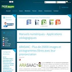 ARASAAC: Plus de 25000 images et pictogrammes libres avec leur prononciation