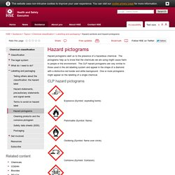 Hazard symbols and hazard pictograms - Chemical classification