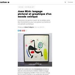Joan Miró: langage pictural et graphique d'un monde onirique