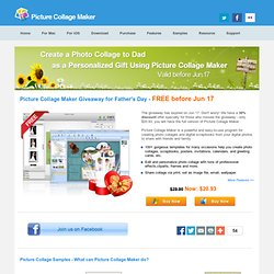 Picture Collage Maker Giveaway for Father's Day