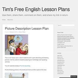 Picture Description Lesson Plan