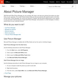 About Picture Manager - Office Support