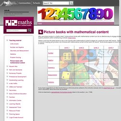 Picture books with mathematical content