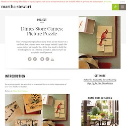Dimes Store Games: Picture Puzzle - Martha Stewart Crafts