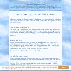 Image & Picture Sourcing - How To Do It Properly