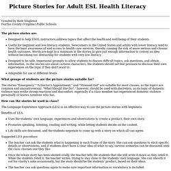 Picture Stories for Adult ESL Health Literacy