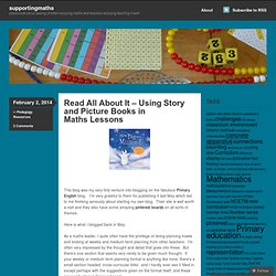 Read All About It – Using Story and Picture Books in Maths Lessons