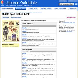 """""""Middle ages picture book"""" in Usborne Quicklinks"""