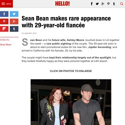 Sean Bean pictured with his fiancee Ashley Moore