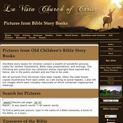 Pictures from Old Bible Story Books