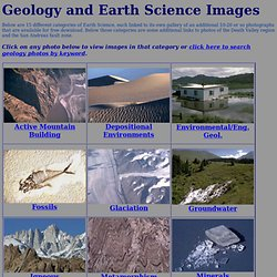 Pictures, Photos of Geology and Earth Science
