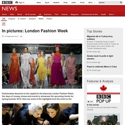 In pictures: London Fashion Week - BBC News