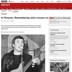 In Pictures: Remembering John Lennon on his 75th birthday - BBC News