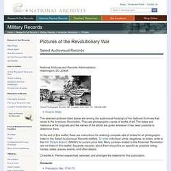 Pictures of the Revolutionary War