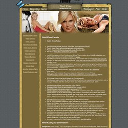 Heidi Klum Seal Fansite - pictures, wallpaper, Topmodel Heidi Klum in project runway, photos, videos