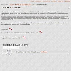 pidapi-asso.fr - 01 - LE PLAN DE TRAVAIL