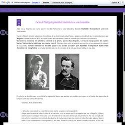 Miserére Filosofía (Φιλοσοφία): Carta de Nietzsche pidiéndole matrimonio a una holandesa.