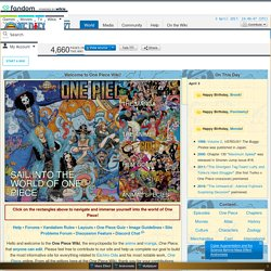 The One Piece Wiki - The Wiki About the Shonen Jump Manga and Anime Series by Eiichiro Oda