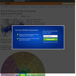 The 6 Pieces of the Customer Experience Puzzle