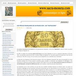 """Les pièces françaises de 20 francs or : les """"Napoléons"""""""