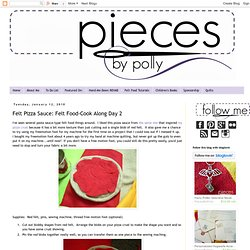 Felt Pizza | Art Projects for Kids