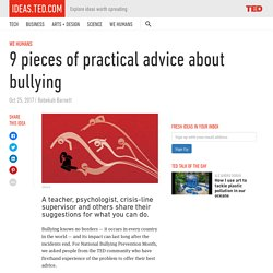 9 pieces of practical advice about bullying