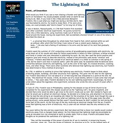Pieces of Science: The Lightning Rod