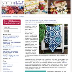 Paper piecing quilts: tips + tutorial download