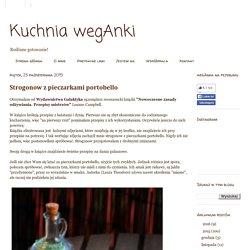 Kuchnia wegAnki: Strogonow z pieczarkami portobello