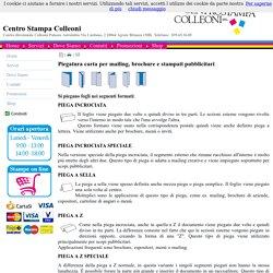 Piegatura carta per mailing, brochure e stampati pubblicitari