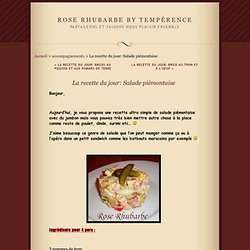 La recette du jour: Salade piémontaise · Rose Rhubarbe by Tempérence